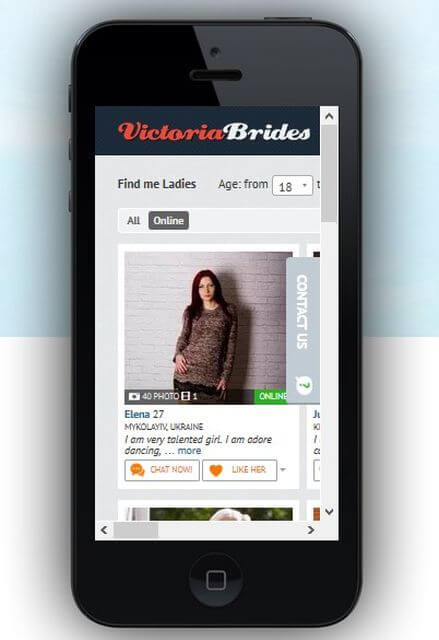 VictoriaBrides mobile version