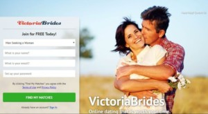 VictoriaBrides registration page