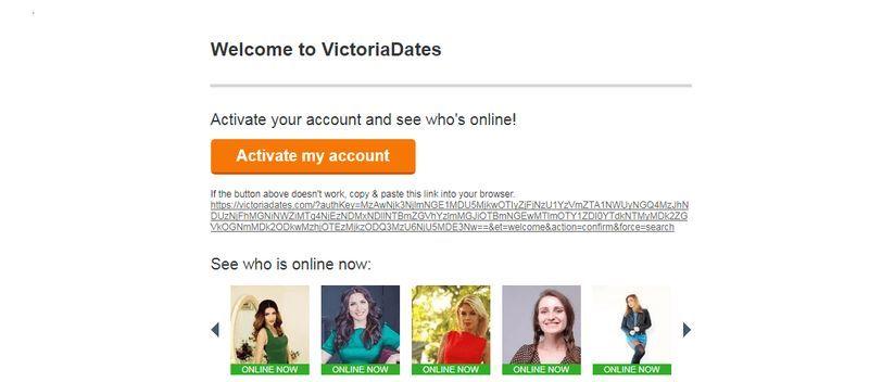 VictoriaDates confirmation letter